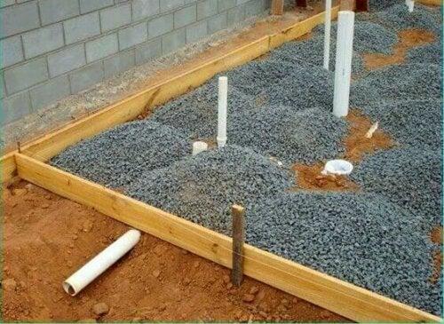 A base for a platform.