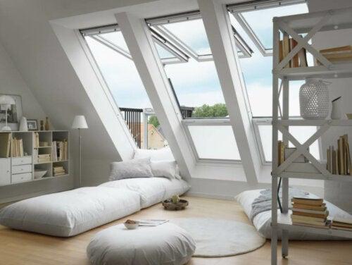 A decorated attic.