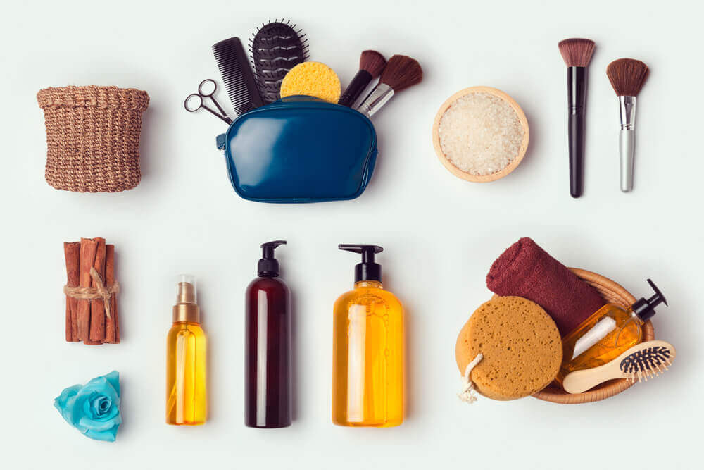 Different toiletries.