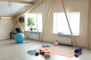 A meditation space.