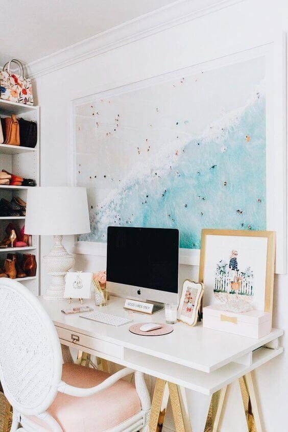 A feminine-style work desk.