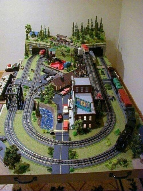 A model train.