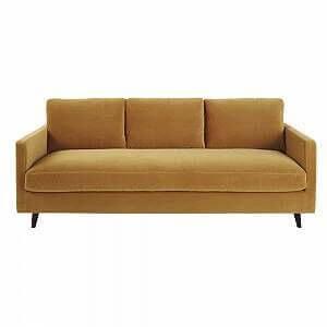 An ochre color sofa