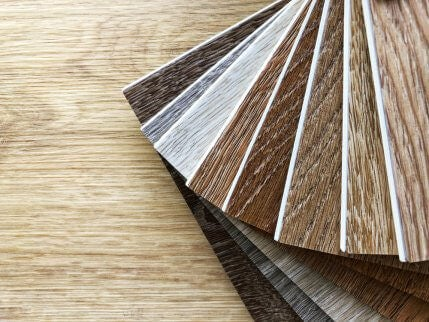 Choices of parquey floor colors shown here