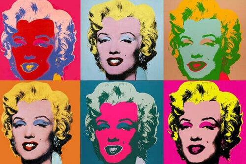 Some of Andy Warhol's art features Marilyn Monroe.