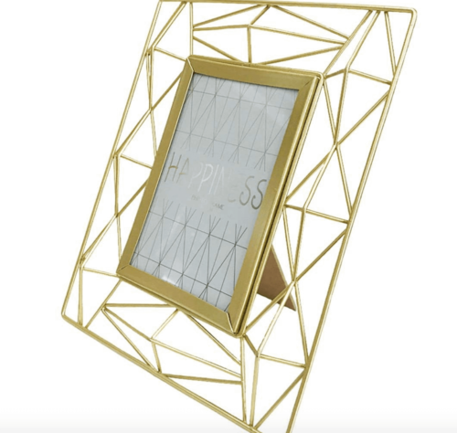 A geometric picture frame.