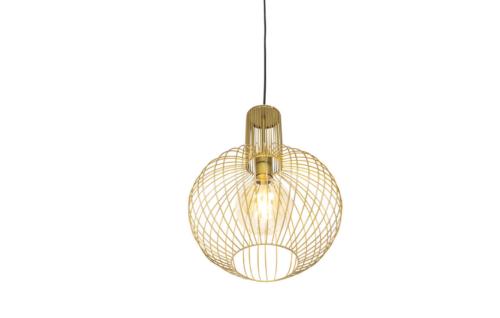 A golden ceiling lamp.