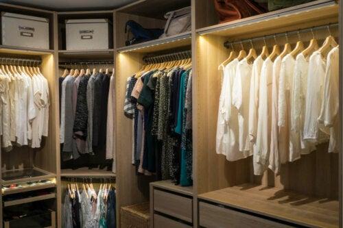 A big walk-in closet.