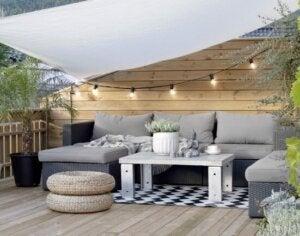 A modern style terrace.