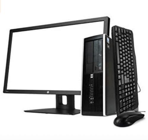 A desktop computer.