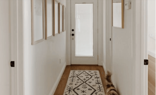 Hall with carpet runner
