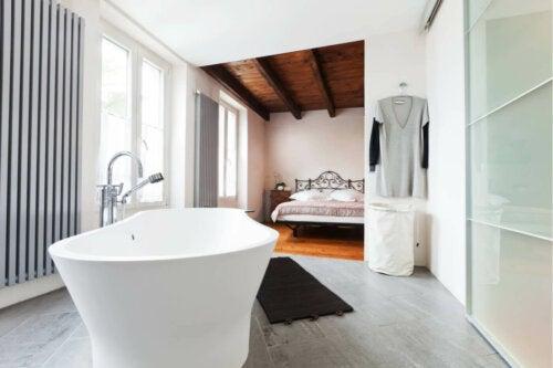 An open bathroom.