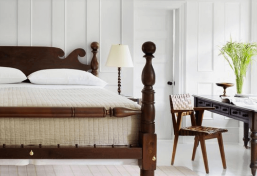 A Shaker style bedroom.