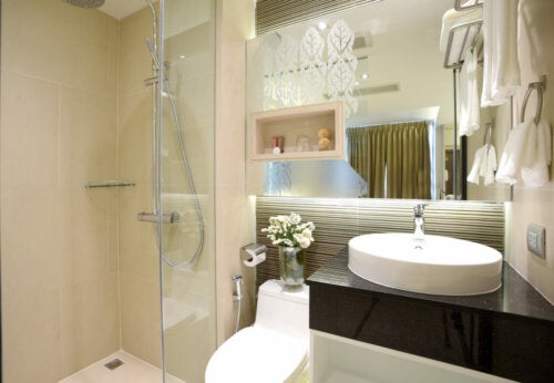 A small bathroom.