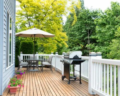 A summer terrace.