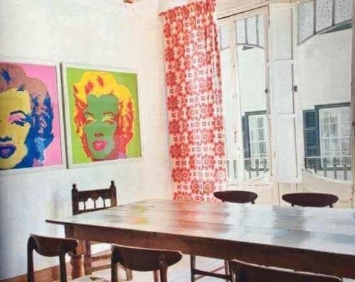 Andy Warhol's art uses bright colors.