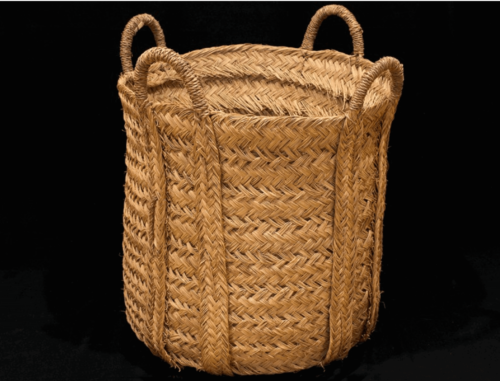 A large basket.