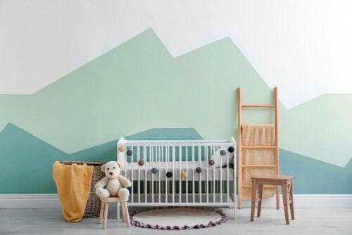 A minimalist nursery.