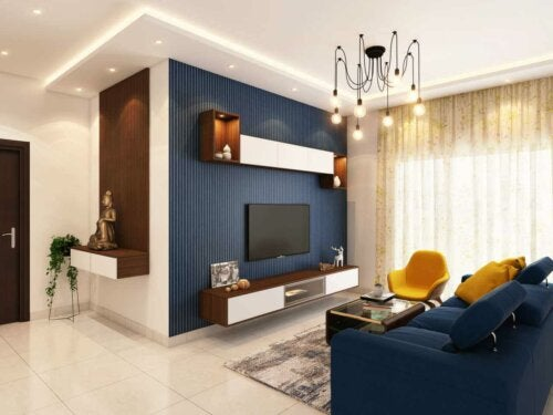 You can use a paint guide to get a living room like this one.