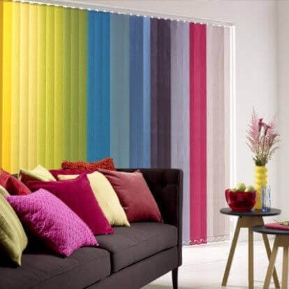 Colorful blinds.