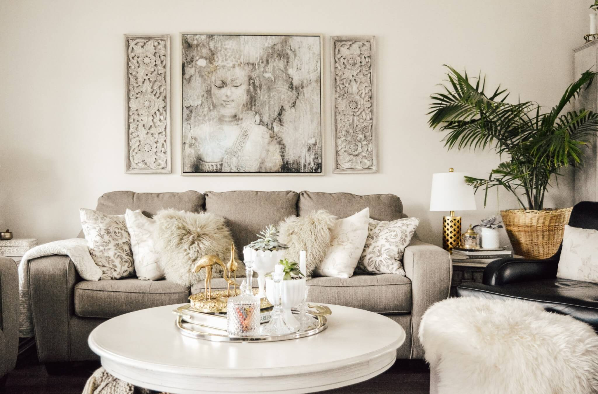 Using Feng Shui in the living room.
