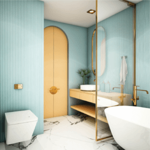 Gold is what your bathroom needs