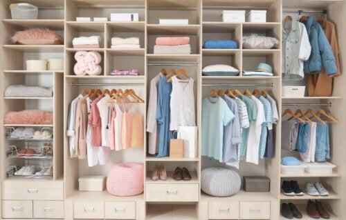 A well-organized closet.
