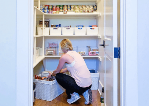 Stay organized in the kitchen with an organized pantry.