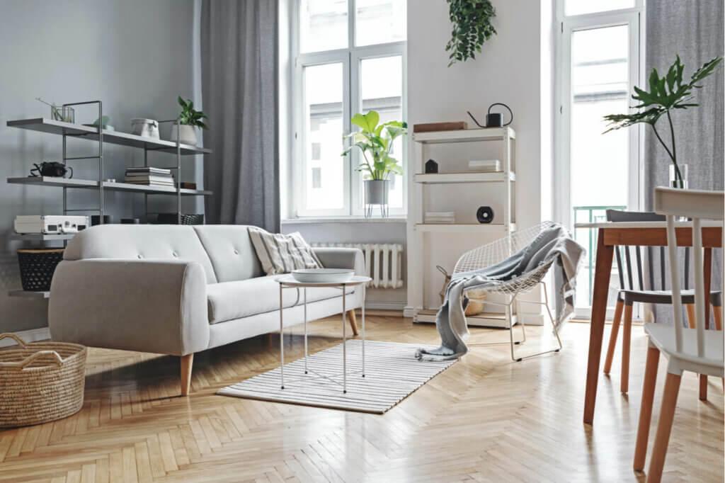 polished parquet floor