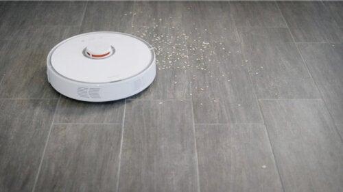 A robot vacuum.