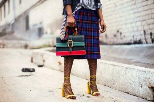 A tartan skirt.