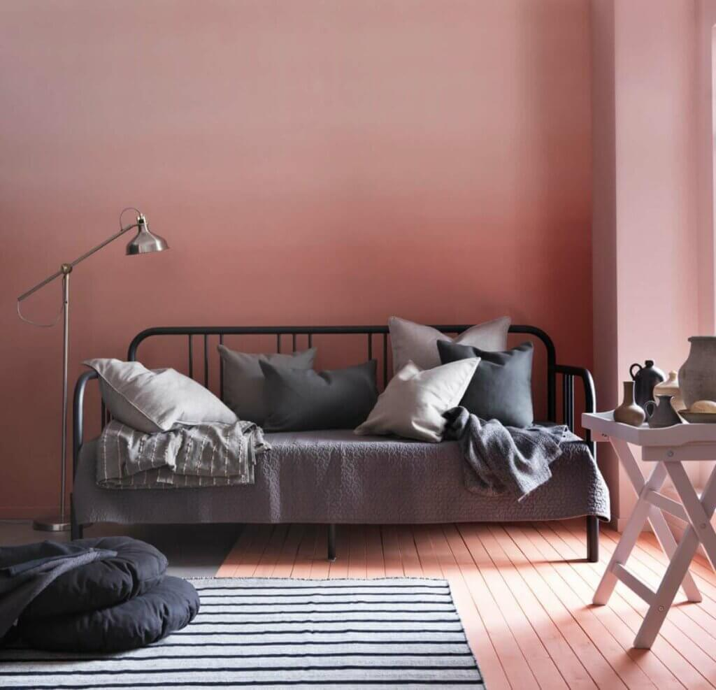 A black brass bed from IKEA.