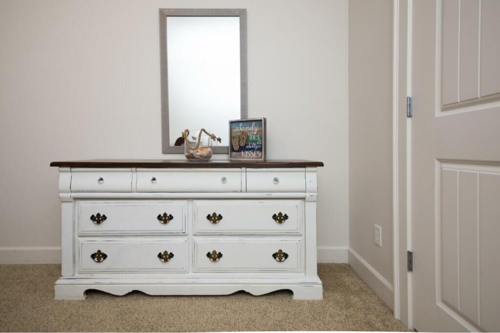 A stylish old dresser.