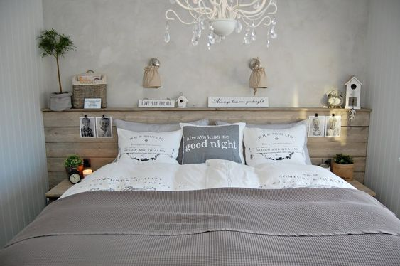 Everything in your bedroom should be in harmony, including the headboard.