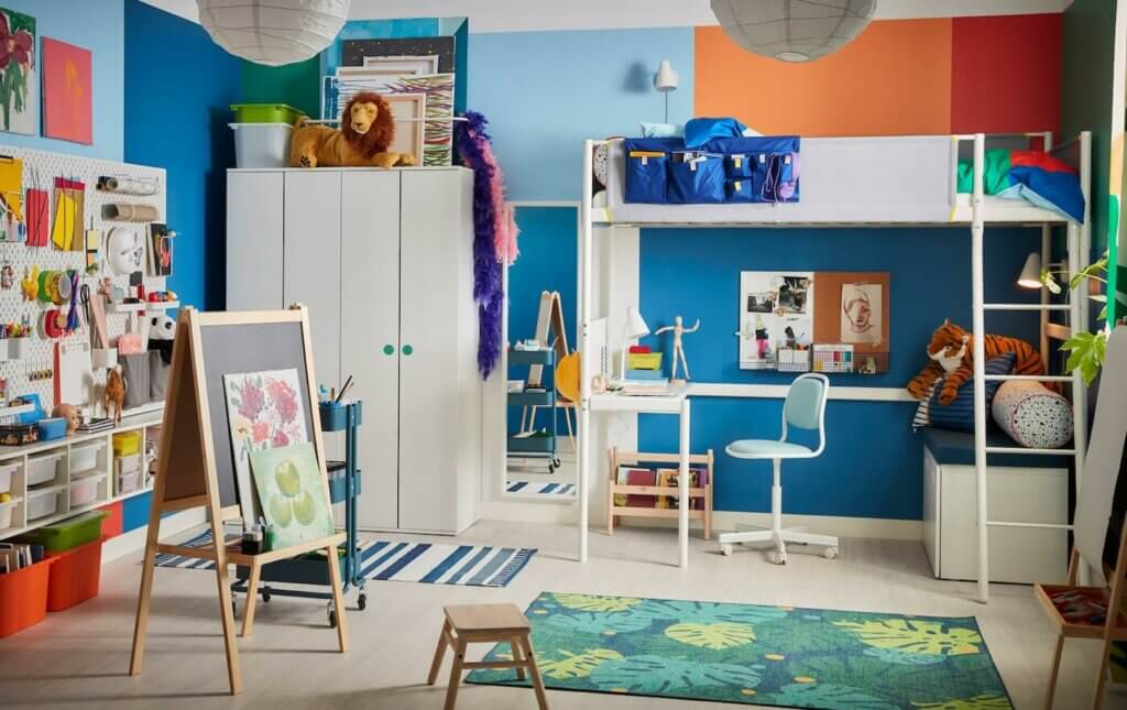 Decorate your children's rooms with their artwork, showcasing their creativity.