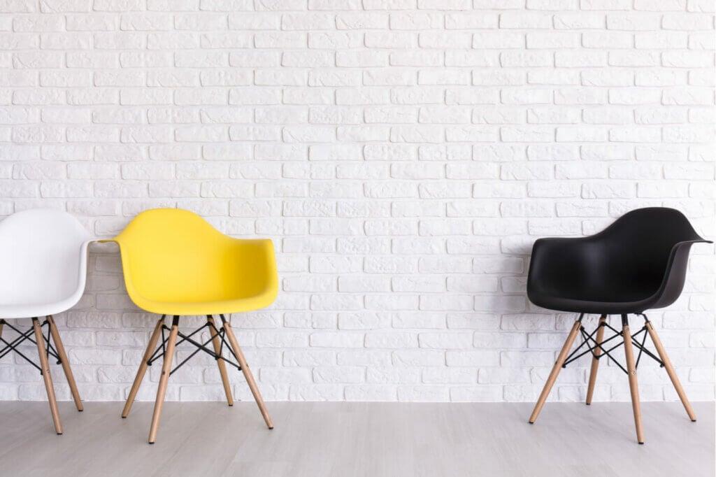 Three Scand chairs.