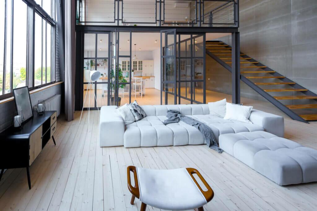 A spacious bright home.