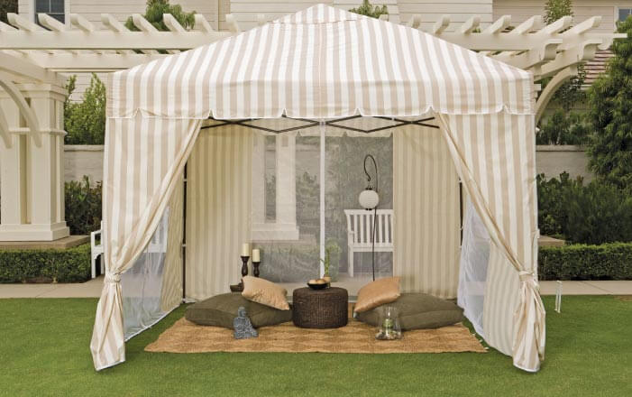 Tents can create the perfect decorative touch.