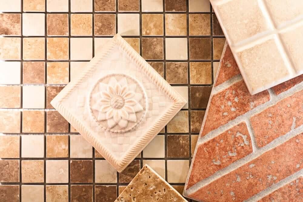 Hydraulic ceramic tiles.