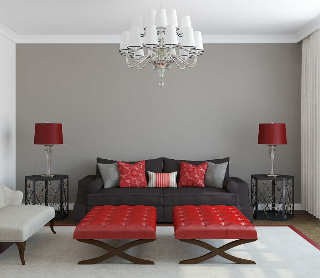 The Maroon and Gray Color Combination in Home Decoration