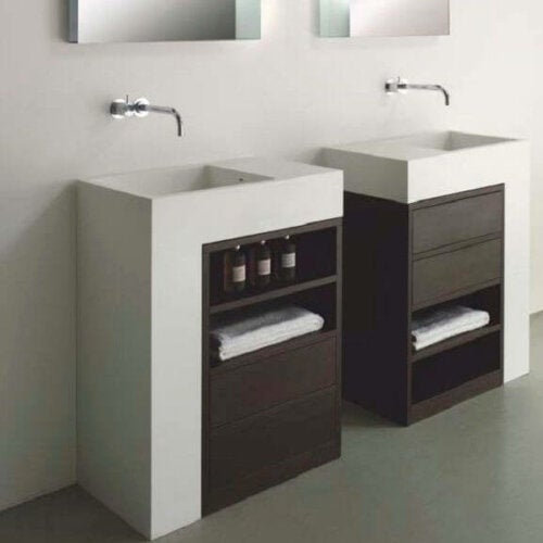 Washbasin Cabinet for two.