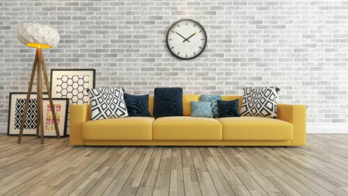 A living room with some earthy colors for earth zodiac signs.